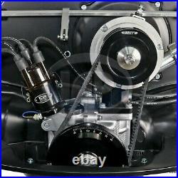 1200-1600cc VW MST SOLID V-BELT STANDARD PULLEY KIT ANODIZED BLACK M20400130