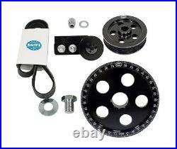 Air-Cooled VW High Performance Serpentine Belt Pulley Kit, Anodized Black
