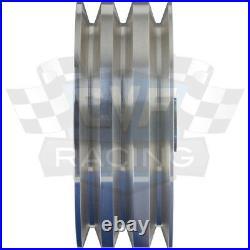 Aluminum Corvette Pulley Kit V-Belt Vette 283 350 400 SWP Chevy Billet