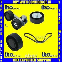 BMW Drive Belt Complete kit Tensioner+Belt+Lower & Upper Idler Pulley's URO KIT