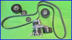 BMW N54 Engine 135 335xi 335i E90 E92 E93 Serpentine Belt, Tensioner, Pulley Kit