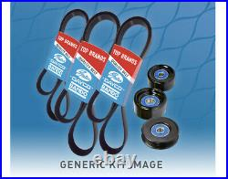 Belt & Pulley Kit for Mitsubishi Pajero 3.5L 1997-1999 NL V6 6G74 DOHC MPFI