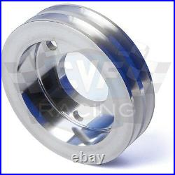 Big Block Chevy Pulley Kit V-Belt 396 427 454 SWP BBC Billet Aluminum Steering