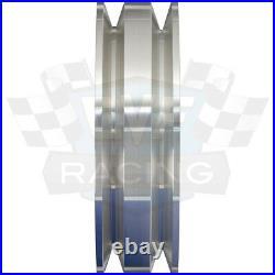 Big Block Ford Pulley Kit 429 460 BBF 2 Groove V-Belt Billet Aluminum PS Set