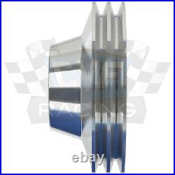 Buick Pulley Kit Big Block 400 430 455 Crank V-Belt Billet Aluminum 3 A/C