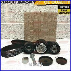 Clio Sport 172 182 Genuine Dephaser Pulley Cam Belt Genuine Kit & 5l Red Coolant