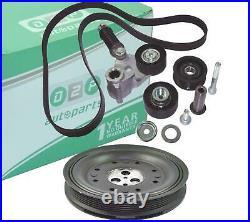 Crankshaft Pulley Fan Belt Tensioner Kit For Ford Mondeo Mk3 2.0 2.2 Diesel