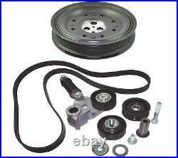 Crankshaft Pulley Fan Belt Tensioner Kit For Jaguar X Type 2.0 2.2 D C2s42539