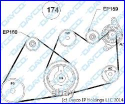 DAYCO Belt + Pulley KIT FOR Nissan Navara D40 SPAIN Built Diesel 2.5L YD25DDTi