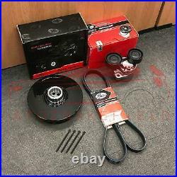 For Bmw N47 D20 C Vibration Damper Crankshaft Pulley Tensioner Drive Belt Kit
