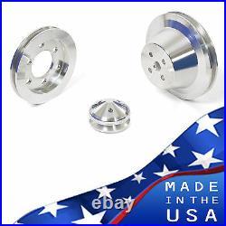 Ford FE Engine V-Belt Pulley Kit 352 390 427 428 Billet Aluminum Set Sheave