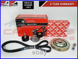 Ford Mondeo Mk4 2.0 Tdci Diesel Drive Fan Belt Crank Shaft Pulley Tensioner Kit