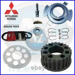 Genuine Mitsubishi L200 2.5 TD Diesel 4D56 crank shaft pulley belts repair kit