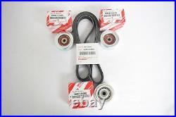 Genuine Toyota 4Runner V6 4.0L 1GRFE 03-09 Drive Belt & Idler Pulley OEM Kit