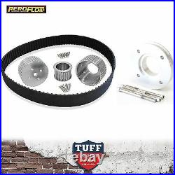 Holden 253 308 V8 Aeroflow Silver Gilmer Belt Drive Kit with Power Steer Pulley
