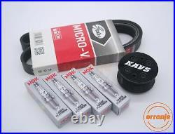 MINI Cooper S R52 R53 Supercharger Pulley Kit Belt Plugs KAVS 20% / BKR6EQUP