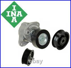 OEM Belt Tensioner Assembly Idler Pulley Kit 3pcs INA Mercedes V6 V8 2005-2011