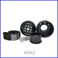 PFEGK80255BK Proflow Pulley Kit, Billet, Gilmer Drive, belt For Ford Cleveland 3