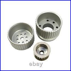 SBC Billet Aluminum Gilmer Belt Drive Pulley System with Alternator Bracket