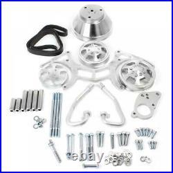 SBC Serpentine Front Runner Pulley Drive Kit BELT /PULLEYS / BRACKET / BOLTS