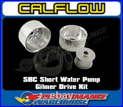 Sbc Small Block Chev Short Wp Gilmer Drive Kit Silver Billet Aluminium With Belt