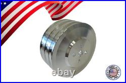 Small Block Ford 289 302 351W V-Belt Pulley Kit A/C AC SBF 3 Groove