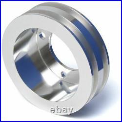 Small Block Ford 2 Groove V-Belt Pulley Kit SBF LWP 289 302 351W LWP 2V ALT