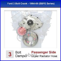Small Block Ford Underdrive Pulleys 289 Kit V-Belt 3 Bolt 302 SBF Billet