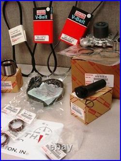 Toyota V6 3.4L Timing Belt Water Pump Tensioner Idler Pulley Kit Genuine OE OEM